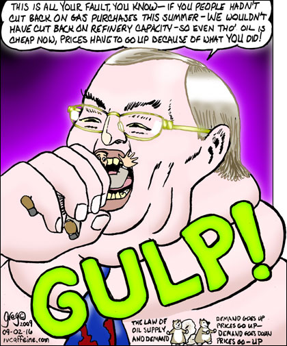 Cartoon: Jabba the oil executive eats a customer--it was all his fault anyway for being so tasty...