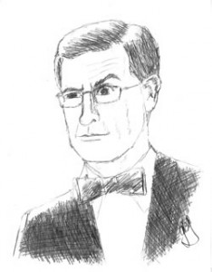 I can actually draw. Pencil Sketch, Stephen Colbert