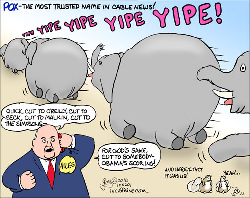 Republicans rush from the Obama Q&A with their tails between their legs as Roger Ailes finds something to cut away to...
