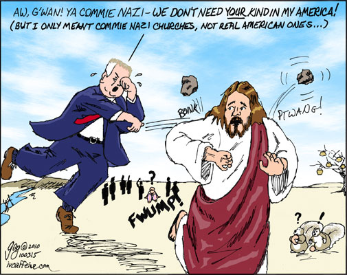 Glenn Beck casts stones at Jesus for being a commie Nazi for preaching social justice..