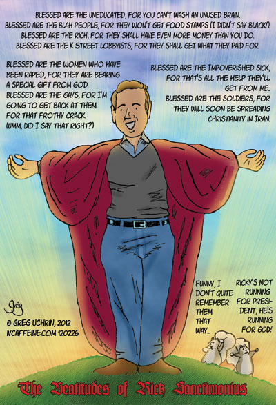 The Eight Beatitudes of Rick Sanctorum