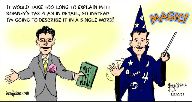 Paul Ryan tells us Mitt Romney's tax plan is magic.