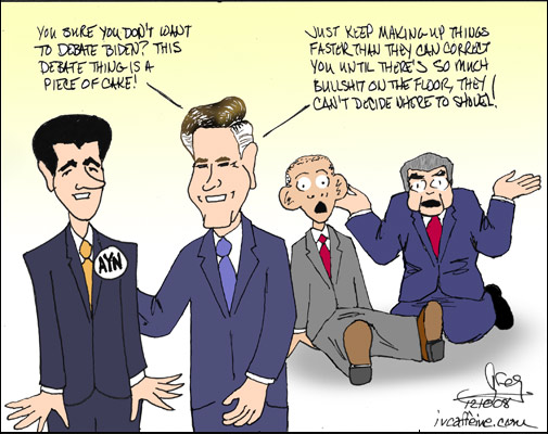 Romney wins by using the Gish Gallop